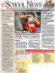 eSchool News Leads with Story on Kindle DX
